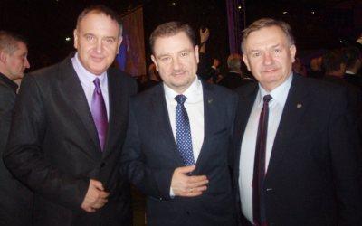 Z szefem Solidarności Piotrem Dudą 10 lutego 2014 r.