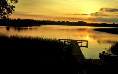 Jezioro Gaładuś na polsko-litewskiej granicy 07-08.2015