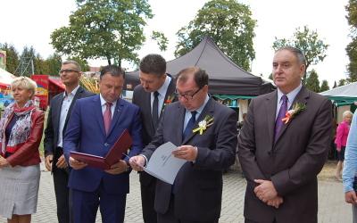 Gliwice 6 września 2015 r. Minister Skarbu Państwa Cezary Gabryjączyk z wizytą na Dożynkach Miejskich w Gliwicach