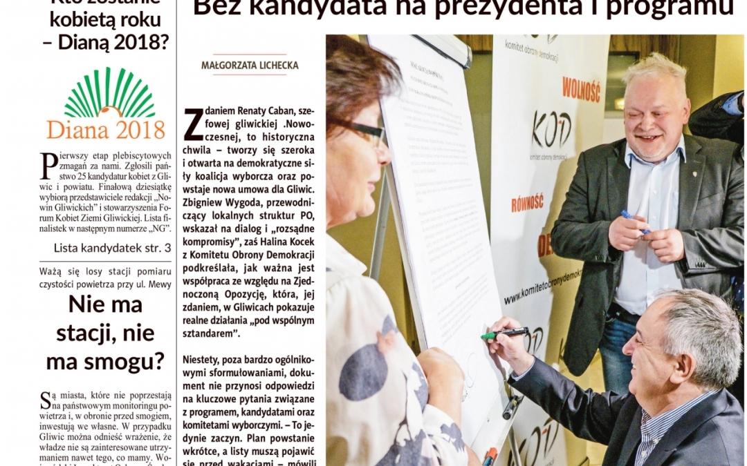 PO, Nowoczesna, KOD iPSL chcą iść razem dowyborów wGliwicach. Podpisano porozumienie (TV)